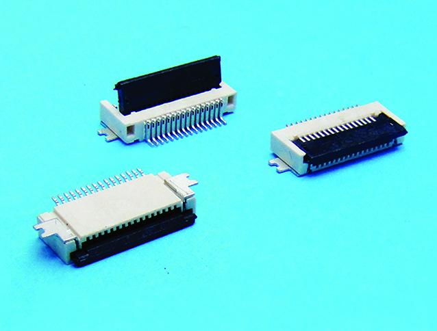FPC 0.5mm pitch 單面下接 掀蓋式 SMT90度(H=2.0mm)