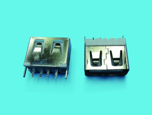 USB A TYPE 母座 短體 直插DIP180度