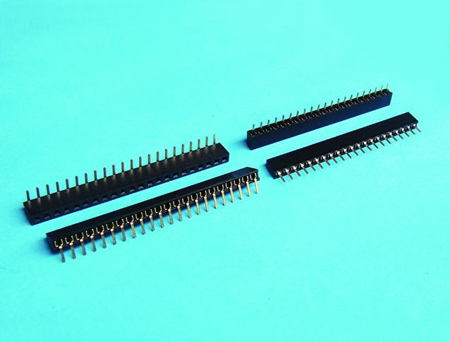 排母 2.0mm  pitch 單排 DIP180&90度